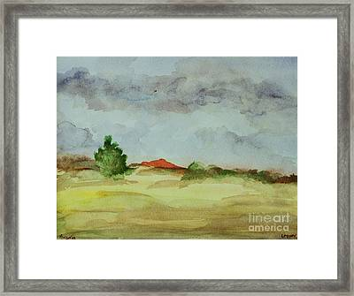 Red Hill Landscape Framed Print by Vonda Lawson-Rosa