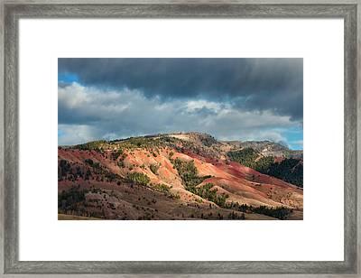 Red Hills Landscape Framed Print