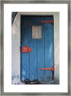 Red Hinges Framed Print