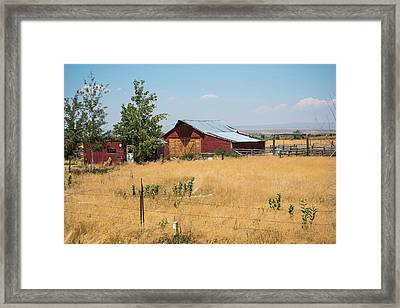 Red Home On The Range Framed Print