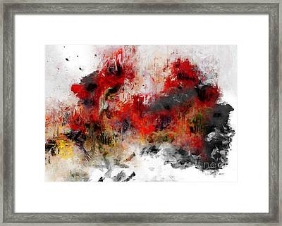 Framed Print featuring the photograph Red Hope  by Claire Bull