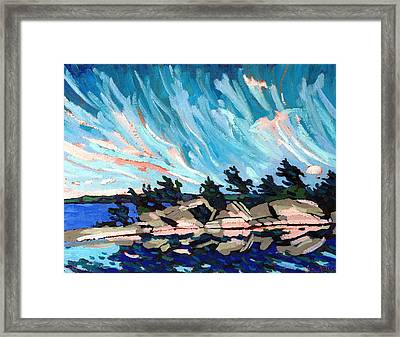 Red Horse Cirrus Framed Print by Phil Chadwick