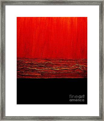 Red Hot Abstract Framed Print by Marsha Heiken
