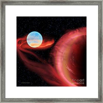 Red Hot Binary Star Framed Print