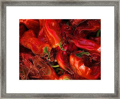 Framed Print featuring the digital art Red Hot Chili Peppers by Stuart Turnbull