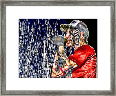 Red Hot Chili Peppers In Color Framed Print