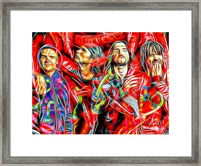 Red Hot Chili Peppers In Color II  Framed Print by Daniel Janda