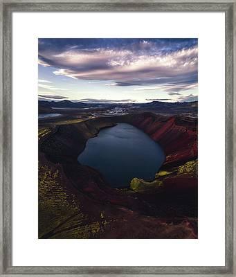 Red Hot Crater Framed Print
