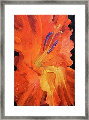 Red-hot Flower Framed Print