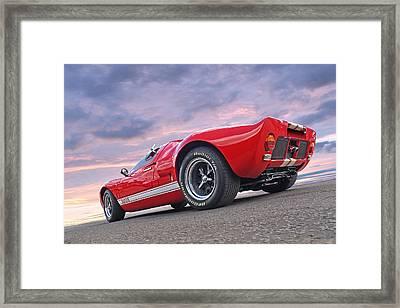 Red Hot Ford Gt 40 Framed Print