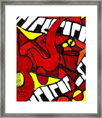 Red Hot Jazz Framed Print