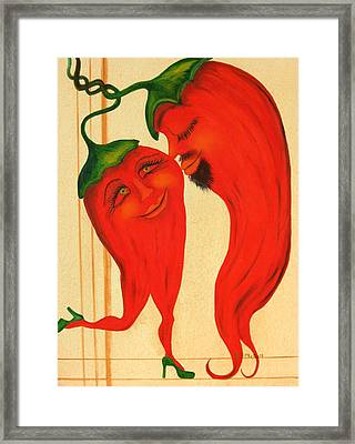 Red Hot Lovers Framed Print by RJ McNall
