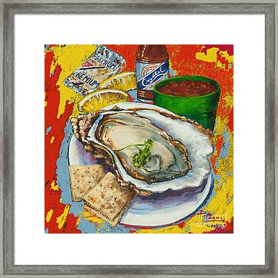 Red Hot Oyster Framed Print
