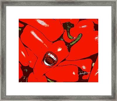 Red Hot Peppers Framed Print