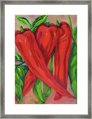 Red Hot Peppers Framed Print
