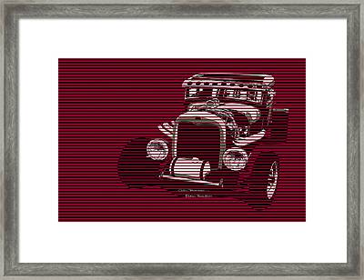 Red Hot Rat Framed Print by MOTORVATE STUDIO Colin Tresadern