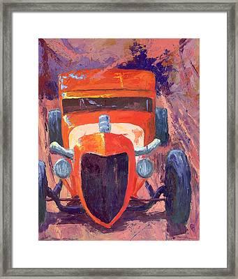 Red Hot Rod Sedan Framed Print