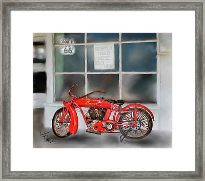Red Hot Tail Gunner Framed Print