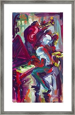 Red Hot Trio Framed Print by Saundra Bolen Samuel