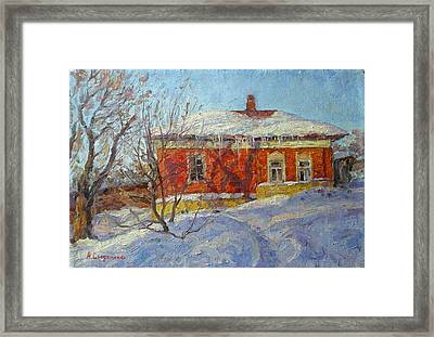 Red House Framed Print by Andrey Soldatenko