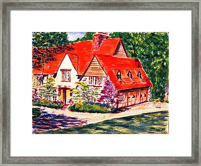 Red House In Clayton Framed Print by Horacio Prada