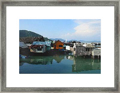Red House On The Water Framed Print
