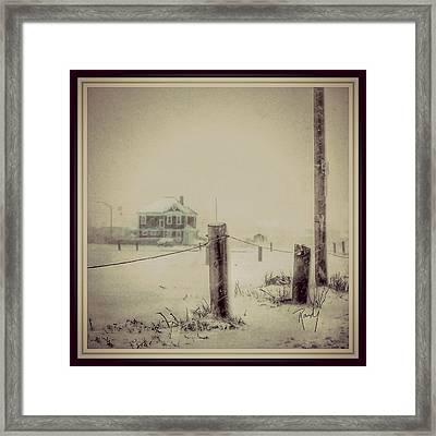 Red House Framed Print by Randy Veraguas