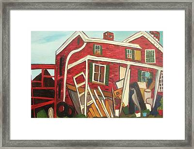 Red House Framed Print by Suzanne  Marie Leclair