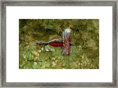 Red Humpy Framed Print by Sean Seal