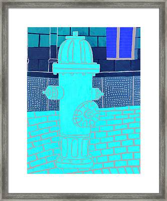 Red Hydrant Framed Print