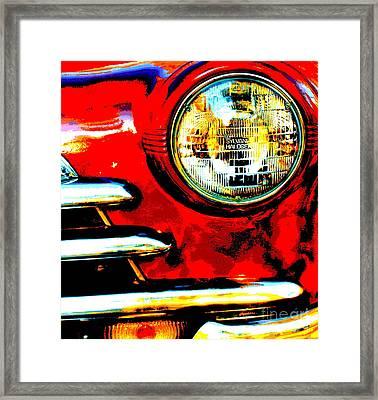 Red I Framed Print