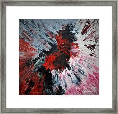 Red Impaso Framed Print