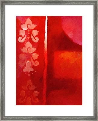 Red Impasto Framed Print