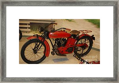 Red Indian With Return Handle Bars   # Framed Print by Rob Luzier