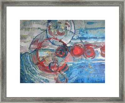 Framed Print featuring the painting Red Infinity by John Fish