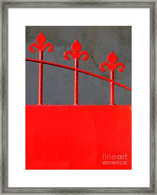 Red Iron Gate Framed Print by Yali Shi