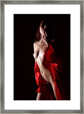Red Is The Color Framed Print