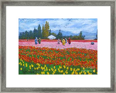 Red Jacket Framed Print by Phyllis Howard