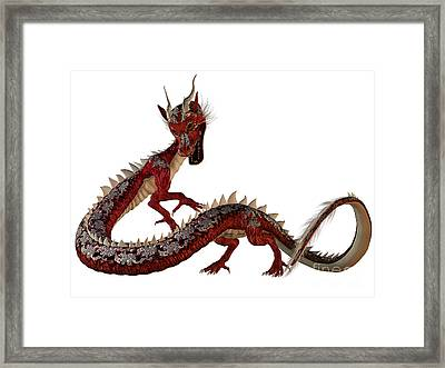 Red Jewel Dragon Framed Print by Corey Ford