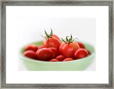 Red Juicy And Home Grown Tomatoes Framed Print by David and Carol Kelly