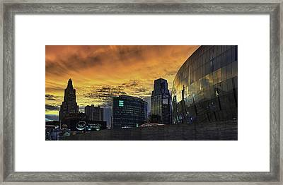 Red Kc Framed Print by Thomas Zimmerman