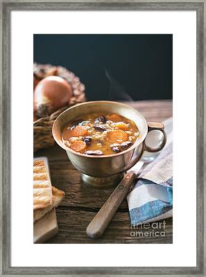 Red Kidney Bean Soup With Carrots And Barley Framed Print