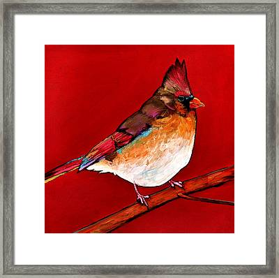 Red Lady Framed Print by Johnathan Harris