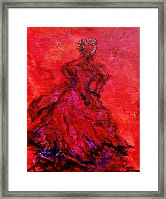 Red Lady Framed Print