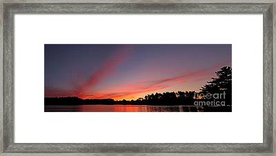 Red Lake Sunset Framed Print