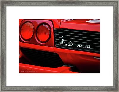 Red Lamborghini Framed Print