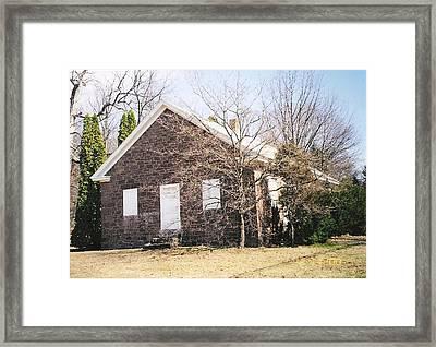 Red Land Quaker House Framed Print by Darlene Prowell