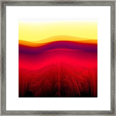 Red Landscape Framed Print by Ramon Labusch