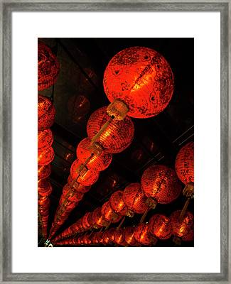Red Lantern Framed Print