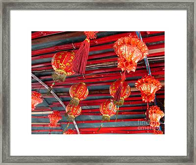 Framed Print featuring the photograph Red Lanterns 2 by Randall Weidner